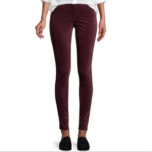 AG The Farrah Skinny in Carrmine Velvet